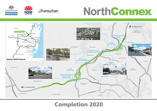 NorthConnex - Sydney tunnels - Using roads - Roads - Roads and