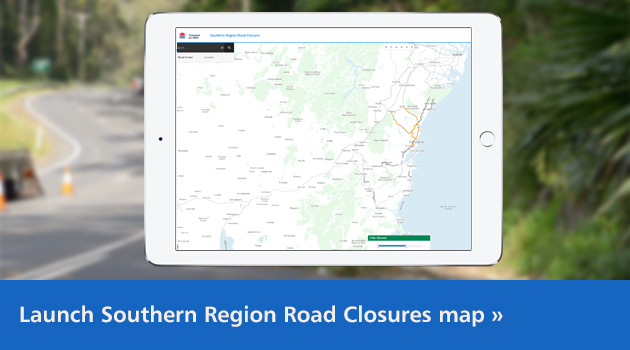 Launch the Southern Region Road Closures map
