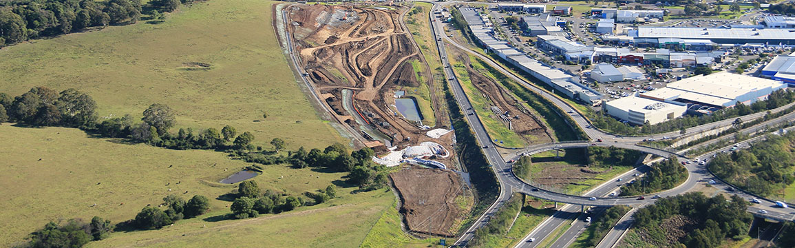 Albion park rail bypass aerial shot