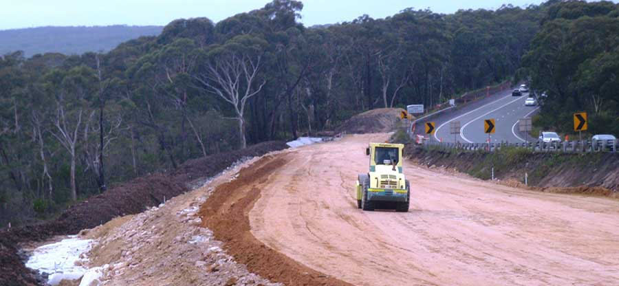 Appin Road curves realignment