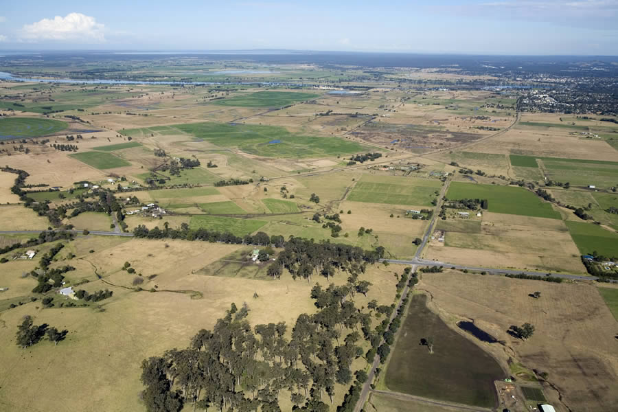 Aerial image taken of Meroo Meadow