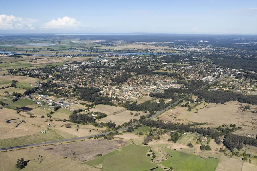 Aerial image taken of Bomaderry