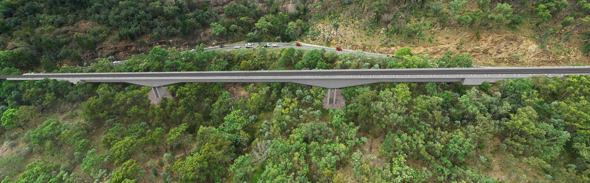 Bolivia Hill - New England Highway - Artist's impression