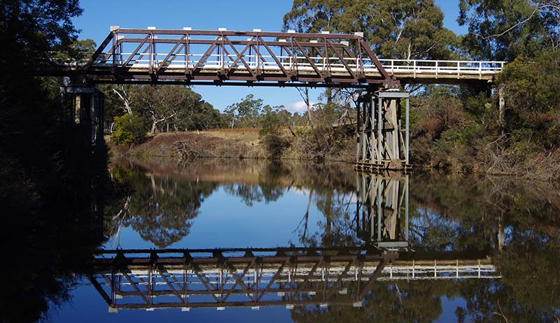 The current Charleyong Bridge over the Mongarlowe River on Main Road 92