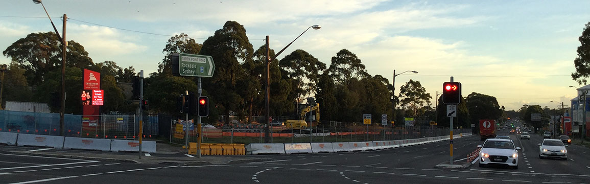 Captain Cook Drive, Taren Point Rd and the Boulevarde, Caringbah