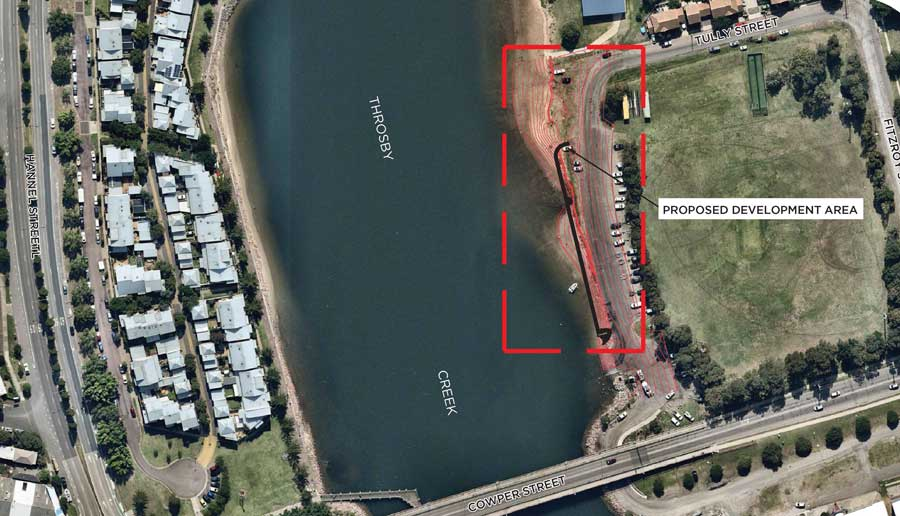Carrington foreshore remediation work proposed development area