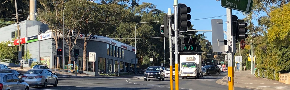 Intersection of Centennial Avenue and Epping Road, Lane Cove.