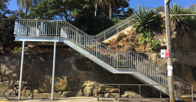 The new Cremorne Point Wharf stairs