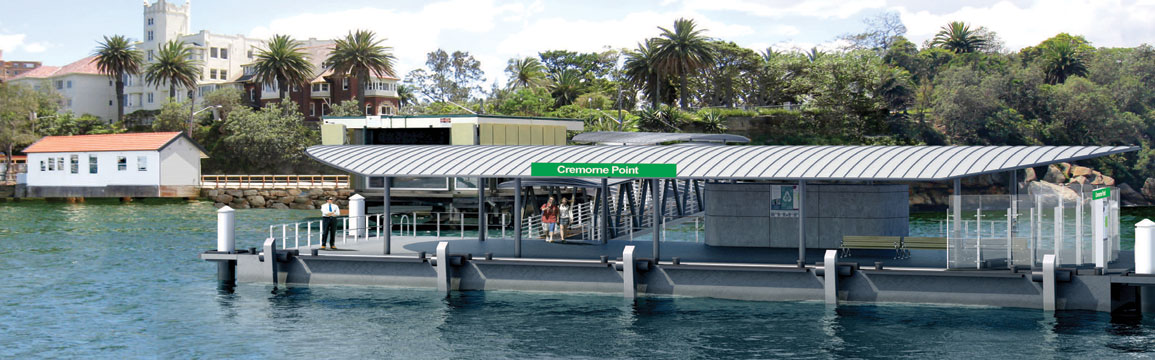 Artists impression of the new Cremorne Point Wharf