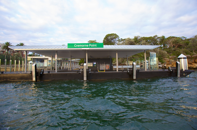 The new Cremorne Point wharf – view from the water