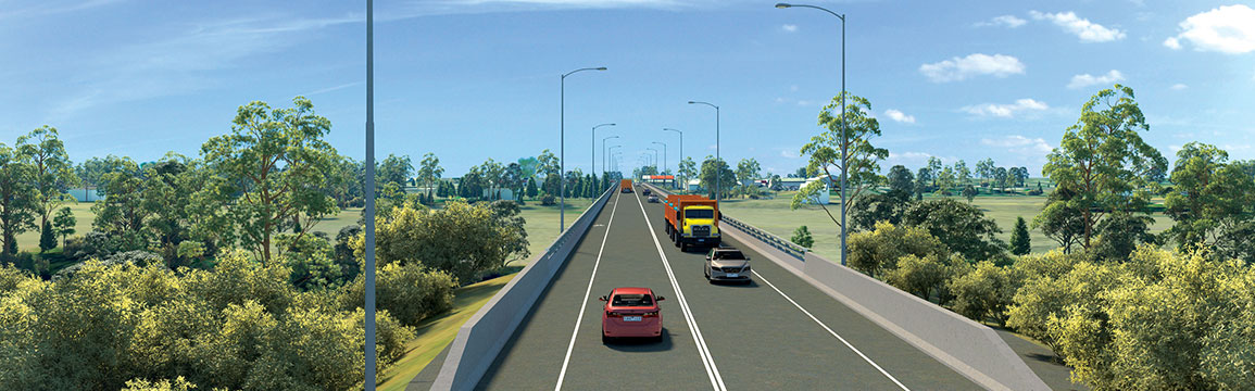 Artists impression of Dubbo Bridge.