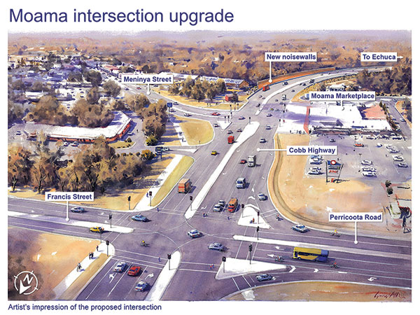 Echuca Moama intersection upgrade