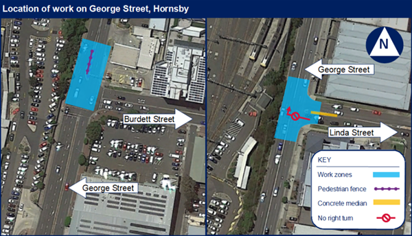 George Street, Hornsby map