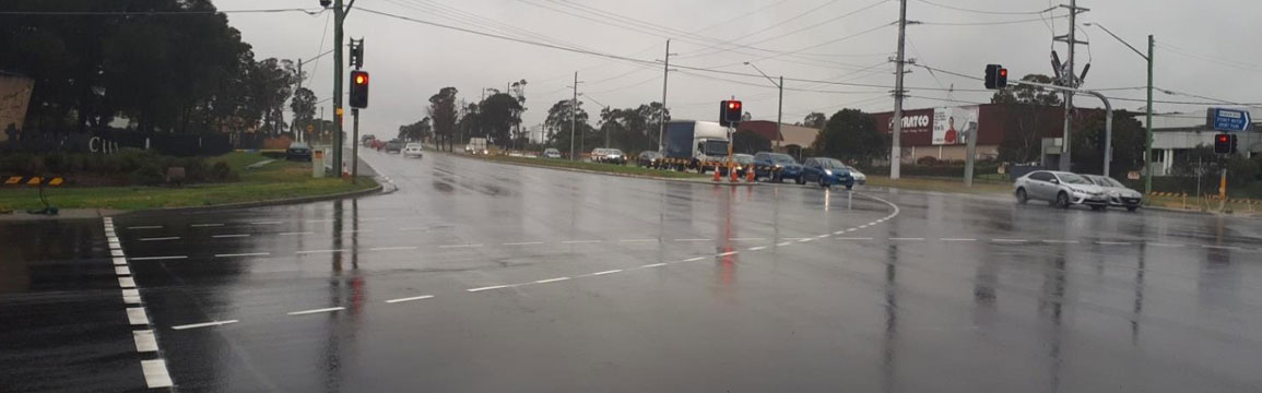 Intersection of Great Western Highway, Doonside Road and Brabham Drive, Eastern