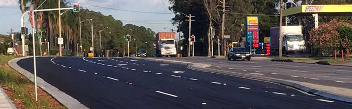 Additional right turn lane on The Hume Highway into Miller Road
