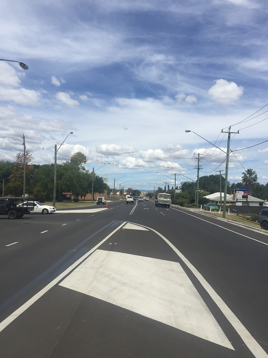Tribe Street intersection extended right turning lane