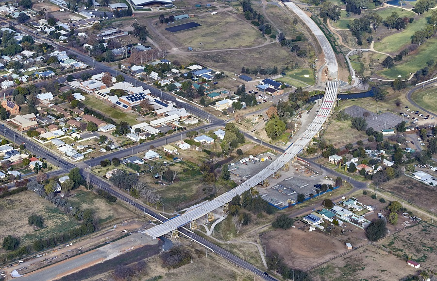 Aerial view of Parsons Gully Bridge over Liverpool and Kingdon Streets - June 2019