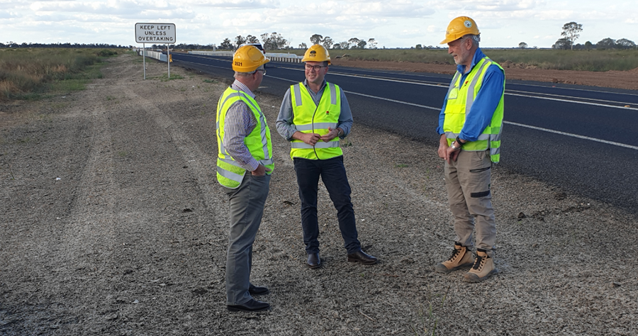 Visit by local MP Adam Marshall, Mbr for Northern Tablelands and Federal Member Mark Coulton