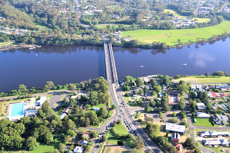 Shoalhaven River bridges looking north - February 2020