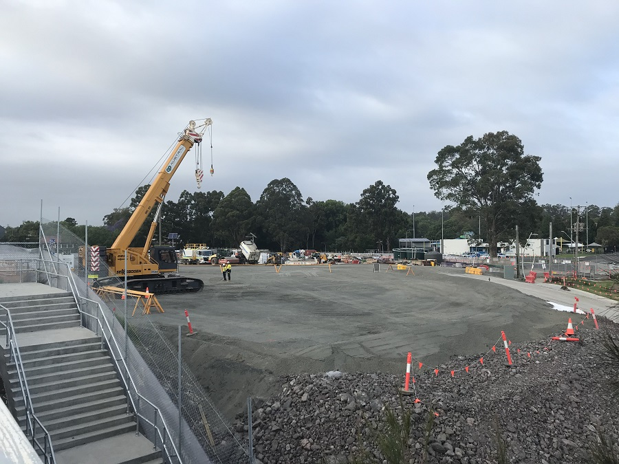 Nowra Bridge project site compound (area for piling) - November 2020