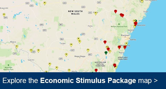 NSW Stimulus Package map