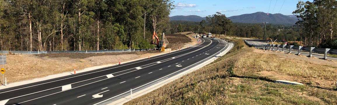The realignment of the Oxley Highway at Spencers Cutting