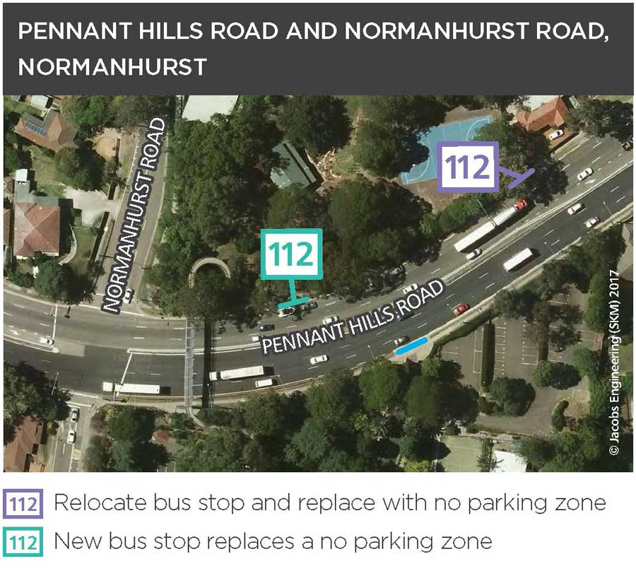 Pennant Hills Road and Normanhurst Road, Normanhurst