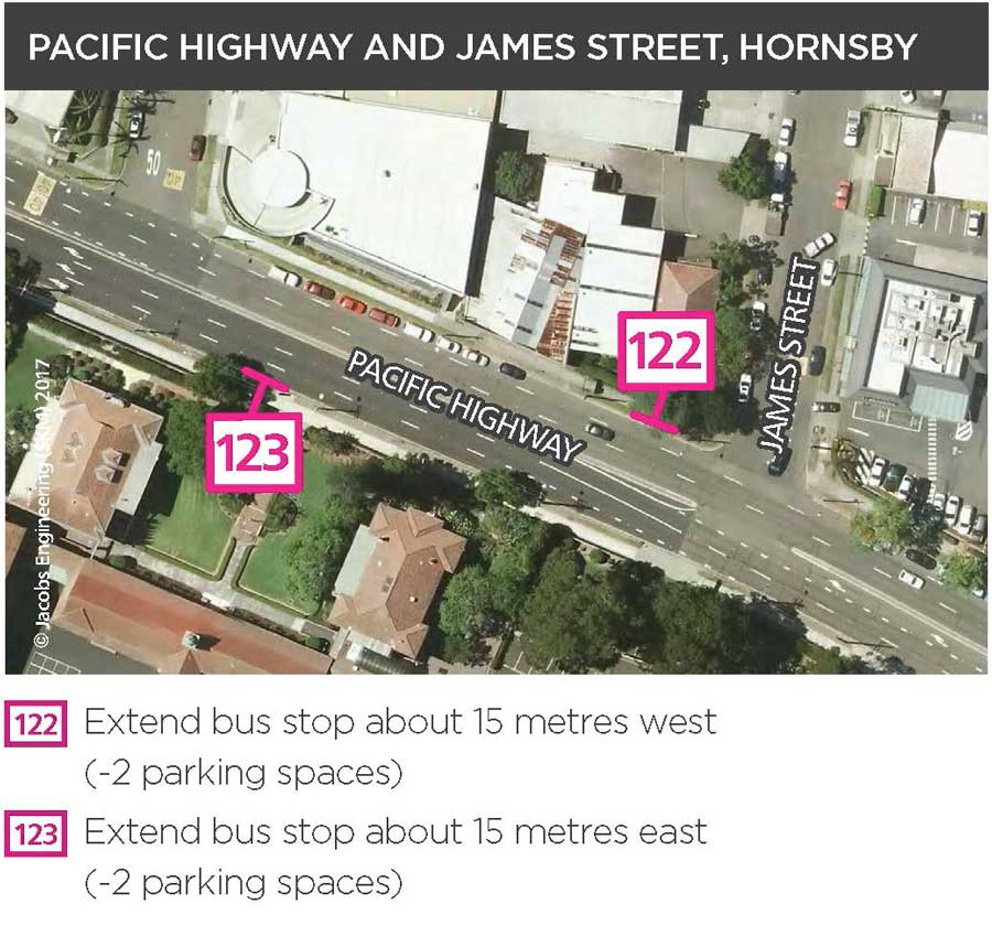 Pacific Highway and James Street, Hornsby