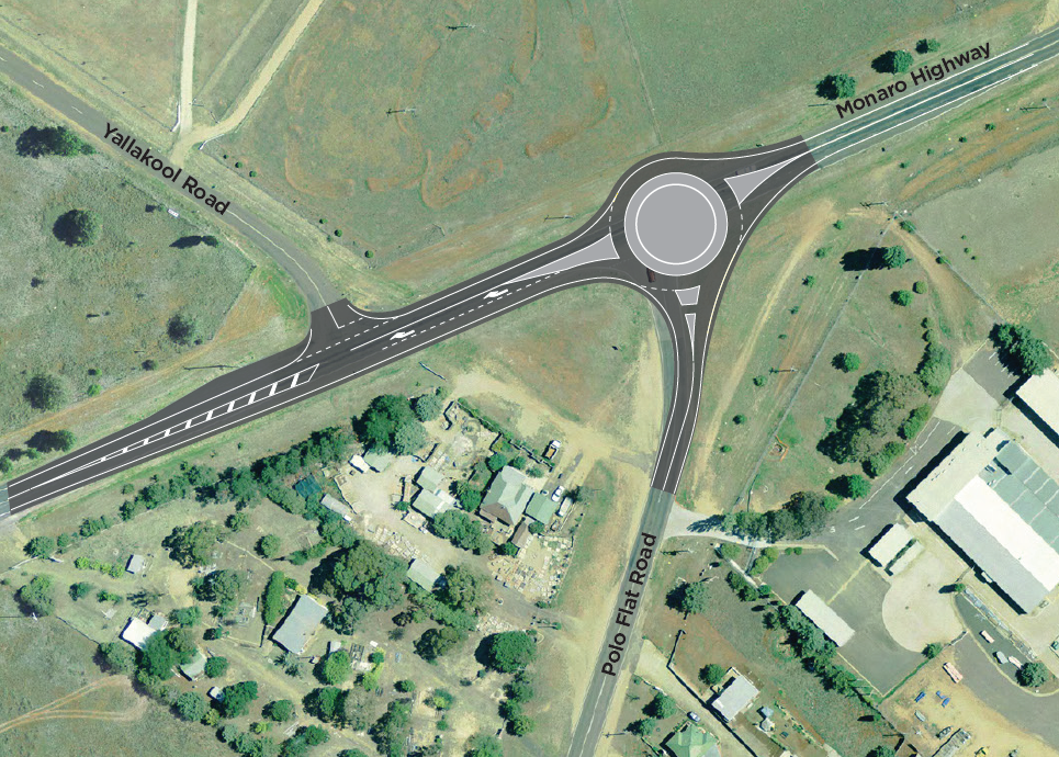 Map showing the location of the proposed roundabout.