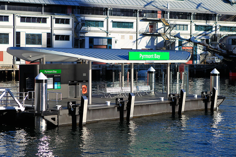 The new Pyrmont Bay Wharf