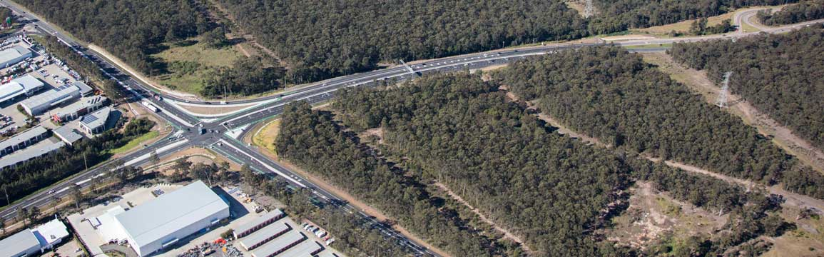 Aerial view of Raymond Terrace extension