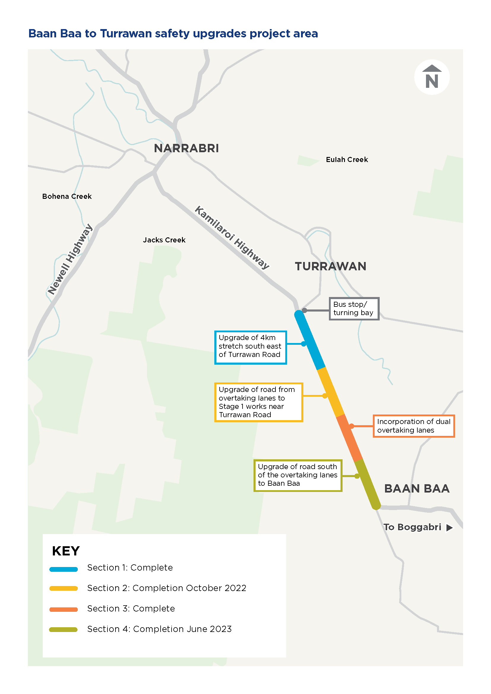 Projects happening on the Kamilaroi Highway between Baan Baa to Turrawan