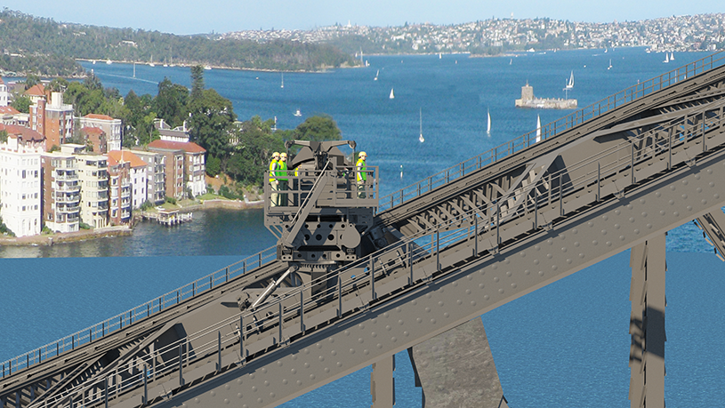Artists impression of a new arch unit on one side of the bridge, close up view