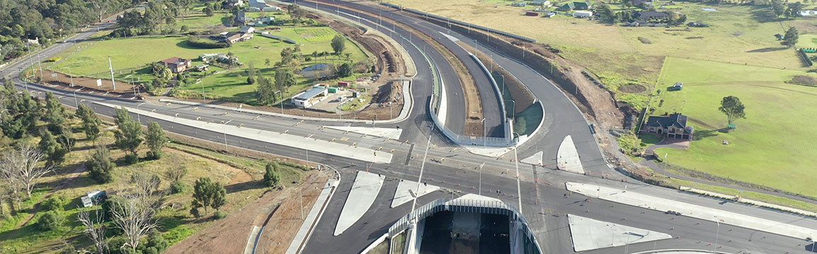 The Northern Road and Bringelly Road interchange