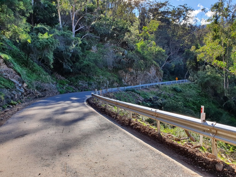 Jenolan Caves Road recovery clean up after fires and floods (After)