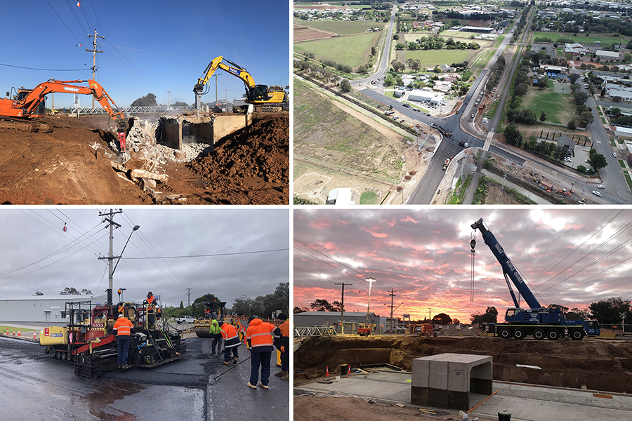 Images of Yoogali intersection upgrade work