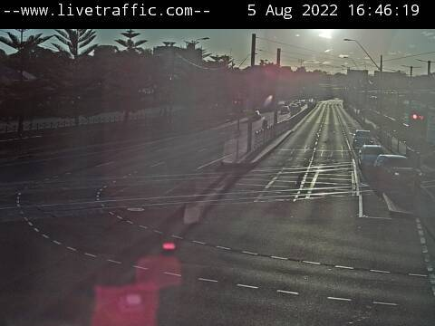 Webcam at Alison Road at Darley Street Randwick