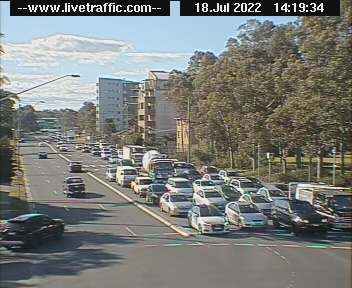 Webcam at Hume Highway at Elizabeth Drive Liverpool