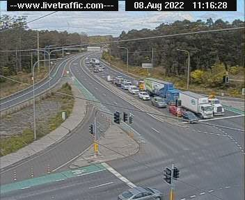Webcam at M1 Pacific Motorway at John Renshaw Drive Beresfield
