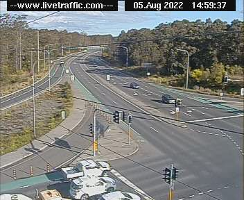 John Renshaw Drive, Beresfield Roundabout - Looking South
