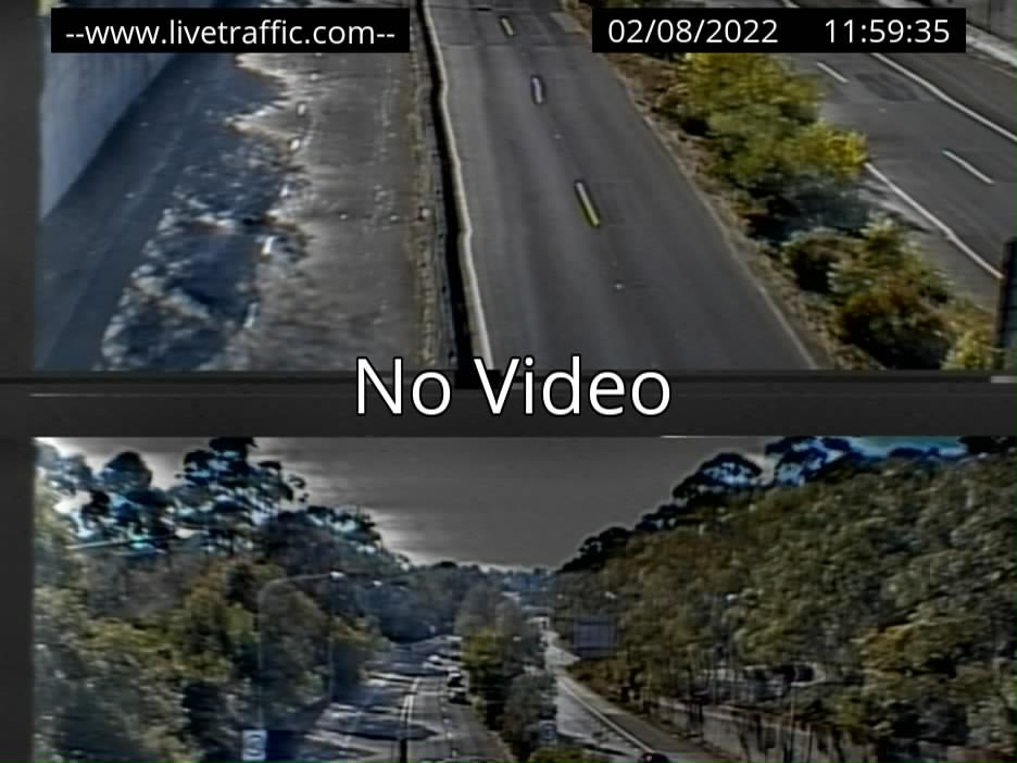 M1 Wahroonga On ramp looking North towards Newcastle
