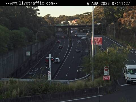 Webcam at Gore Hill Freeway at Artarmon Artarmon