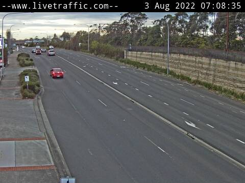 Webcam at Great Western Highway at Oaklands Road Hazelbrook