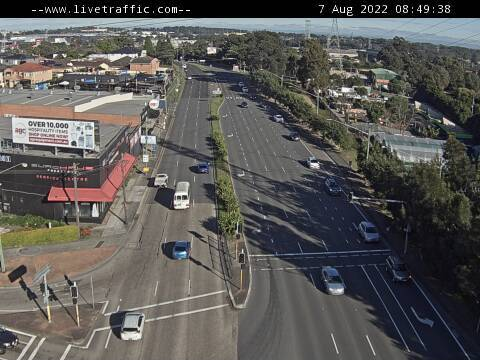 Webcam at Hume Highway and Roberts Road Strathfield