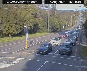 Webcam at King Georges Road at Woniora Road Hurstville