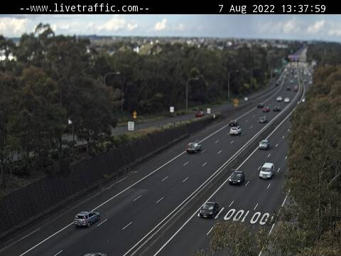 Webcam at M5 at the Hume Highway interchange Liverpool