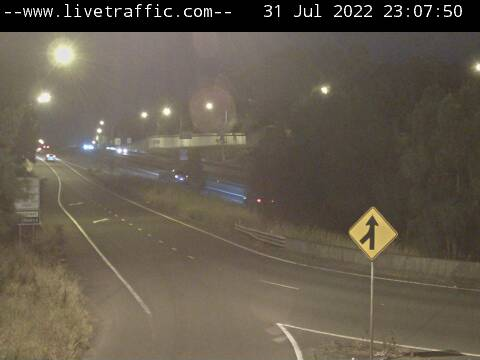 M5 East at the King Georges Road interchange, looking West towards Campbelltown.