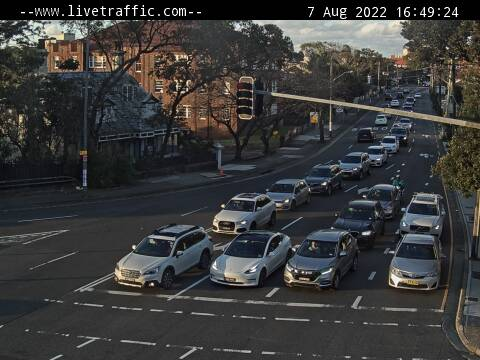 Webcam at Old South Head Road at Bondi Road Bondi Junction