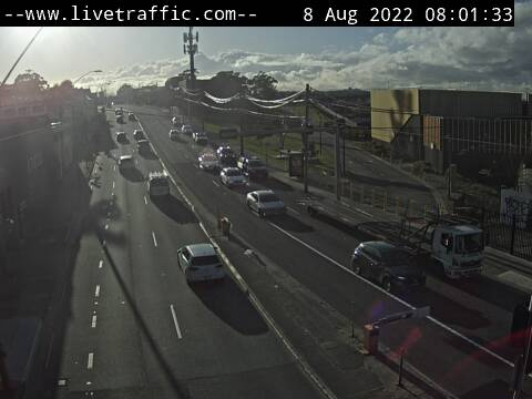 Webcam at Princes Highway at the Canal Road intersection St Peters