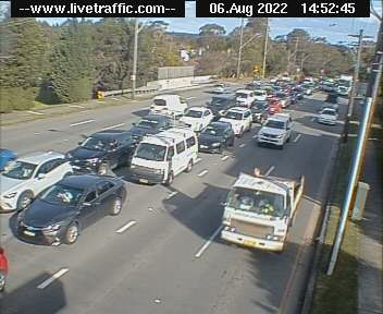 Webcam at Princes Highway at President Avenue Sutherland